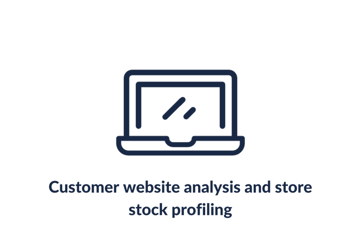 Customer website analysis and store stock profiling